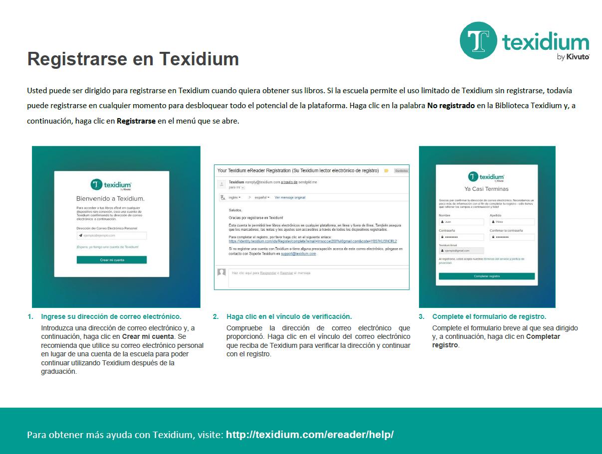 Registrarse para Texidium