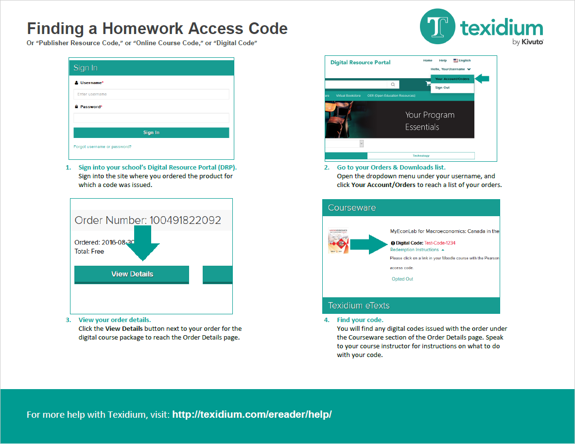 Finding a Homework Access Code