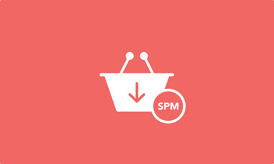 SPM: Shopping cart with download arrow