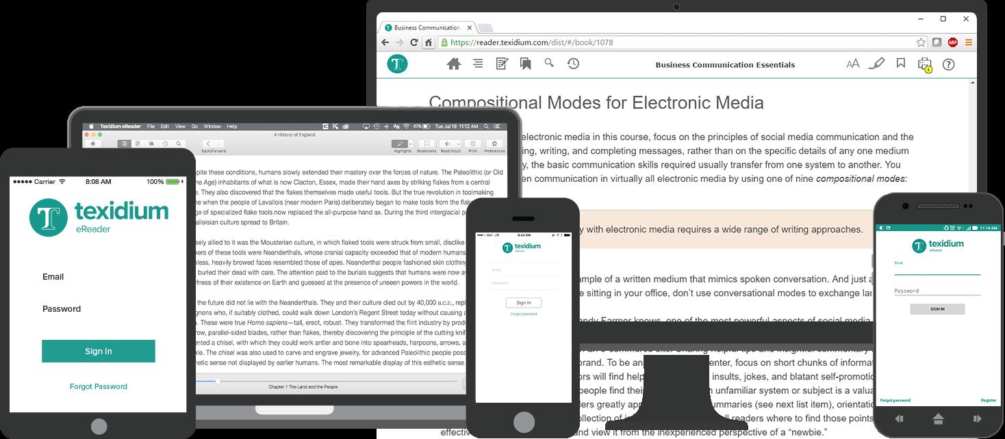 Texidium on Desktop, Laptop, and Mobile Devices
