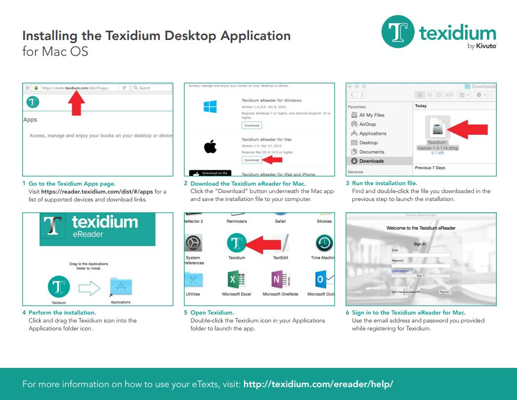 Installing the Texidium Desktop Application for Mac OS