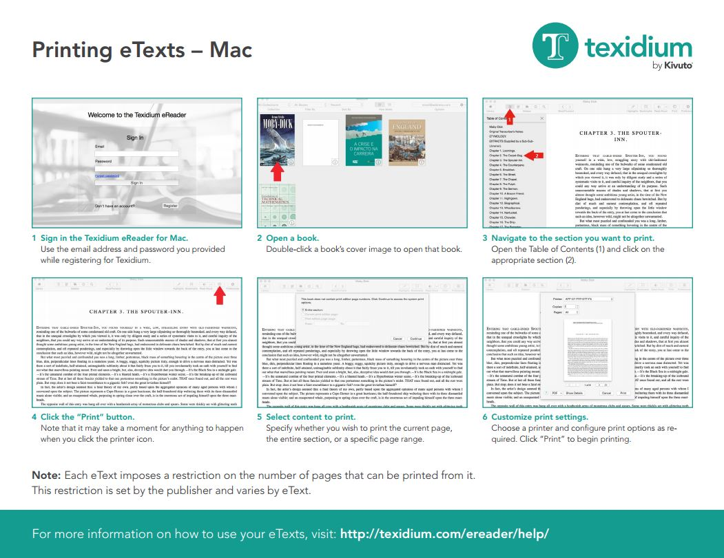 Printing With Texidium For Mac