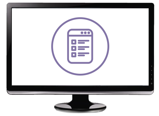 Computer Monitor with eReader Icon