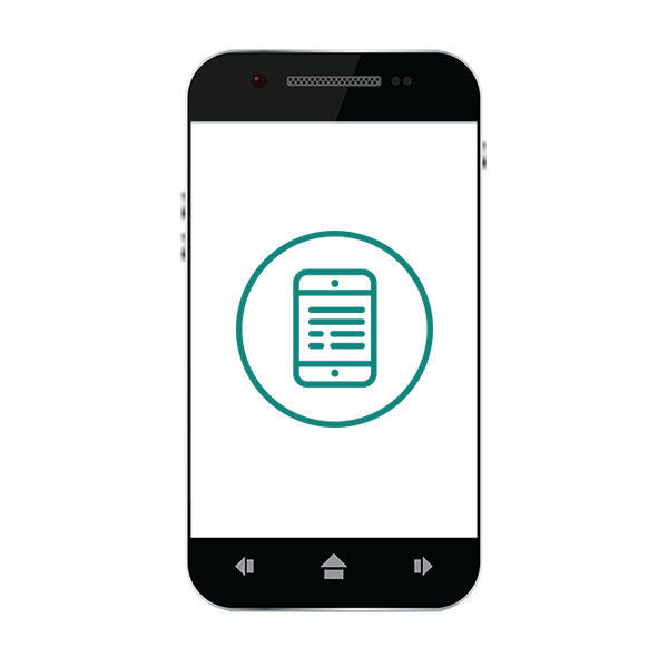 Smart Phone with eReader Icon